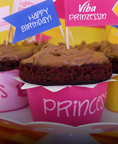 Cupcake Manschetten Prinzessin