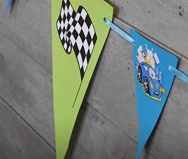 Wimpelkette Rallye