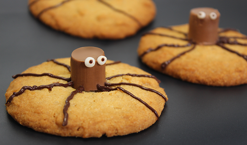 halloween rezept kleine spinnen cookies als idee f r den. Black Bedroom Furniture Sets. Home Design Ideas
