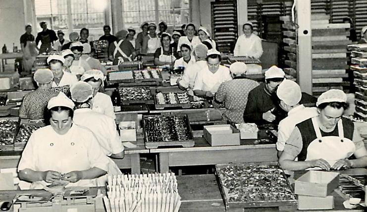 Viba Nougat Produktion Anfang des 20. Jahrhunderts