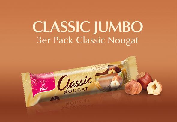 teilnehmendes Produkt für Gewinnspiel Aktion: Nougat Classic Jumbo