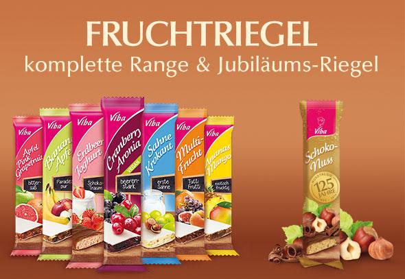 teilnehmende Produkte für Gewinnspiel Aktion: komplette Fruchtriegel Range und Schoko-Nuss Riegel
