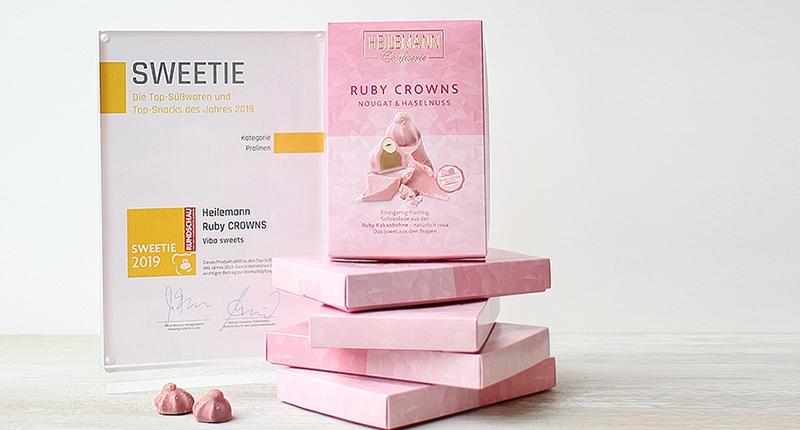 SWEETIE Award und Ruby Crowns Verpackungen
