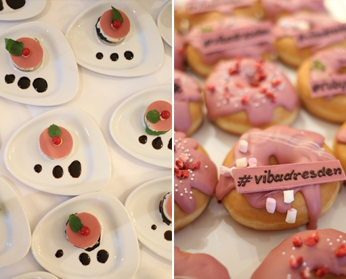 Ruby Chocolate Finger Food und Donuts