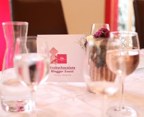 Tischdeko Blogger Event Viba Dresde