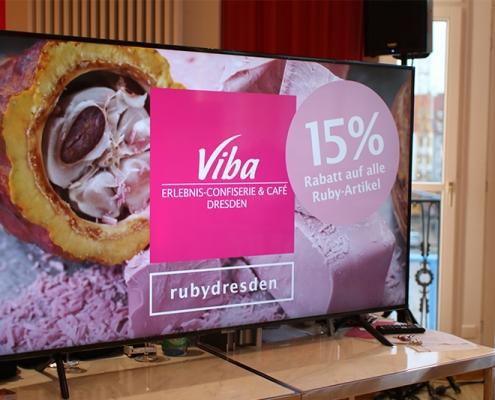 Rabatt Code Ruby Chocolate auf Bildschirm